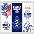 Barber Shop 3 Vertical Banners Set vector image vector image