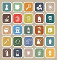 Barista flat icon on brown background vector image vector image