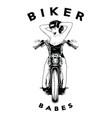 biker babes vector image