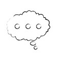 bubble speak cloud dialog message vector image vector image