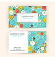 Business Card with Sewing Buttons vector image