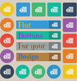 Buyer Menu icon sign Set of twenty colored flat vector image vector image