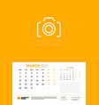 calendar for march 2021 week starts on monday vector image vector image