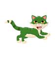 Cartoon jumping cat symbol icon design