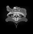 catrina skull day dead vintage vector image