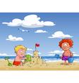 children on beach vector image vector image