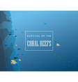 Coral reef background vector image vector image