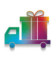 delivery gift sign colorful icon with vector image vector image