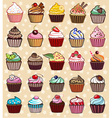 different colorful delicious cupcakes vector image vector image