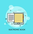 electronic book concept of modern electronical vector image