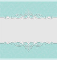 elegant frame in turquoise colors for wedding vector image vector image