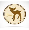 Fawn vector image