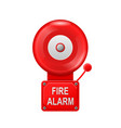 fire alarm system - alarm metall bell public vector image vector image