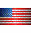 flag of usa with puzzle background vector image vector image