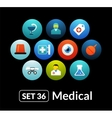 Flat icons set 36 - medical collection vector image