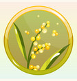 game icon with mimosa flower vector image vector image