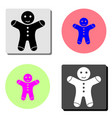 gingerbread man flat icon vector image