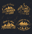 going to the mountains is home vector image