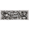 happy thanks giving hand drawn cartoon doodles vector image vector image