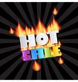 Hot Sale Title In Flames vector image vector image