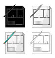 house planrealtor single icon in cartoon style vector image vector image