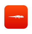 iguana icon digital red vector image vector image