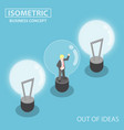 isometric business trapping inside broken light vector image vector image