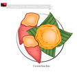 Kau Kau or Papua New Guinean Baked Sweet Potato vector image vector image