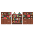library book shelves room book stacks in vector image vector image