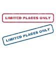 Limited Places Only Rubber Stamps vector image vector image
