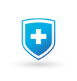 medical shield with cross icon for web banners vector image vector image