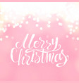 merry christmas creative winter greeting card and vector image vector image