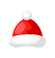 merry christmas hat santa claus vector image vector image