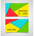 Modern colorful business card template vector image vector image
