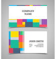Modern light business card template vector image vector image