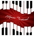 musical background with piano keys festival vector image