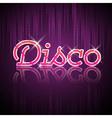 Neon sign Disco party vector image