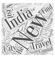 new delhi india travel Word Cloud Concept vector image vector image