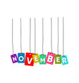 november word vector image