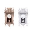 old pendulum clock with white background vector image