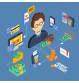 Payment Isometric Set vector image vector image