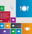 Plate icon sign buttons Modern interface website vector image vector image