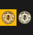 pure honey two colored styles round emblem vector image vector image
