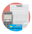 remote taxation icon app flat vector image