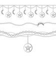 set collection silver metallic chain borders vector image vector image