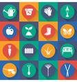 set icon of gardening flat design vector image