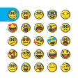 Set of emoji emoticons vector image vector image