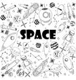 Space line art design vector image