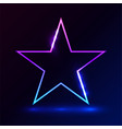 star pink blue light on dark background vector image vector image