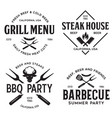 steak house barbecue bbq party restaurant logo vector image vector image